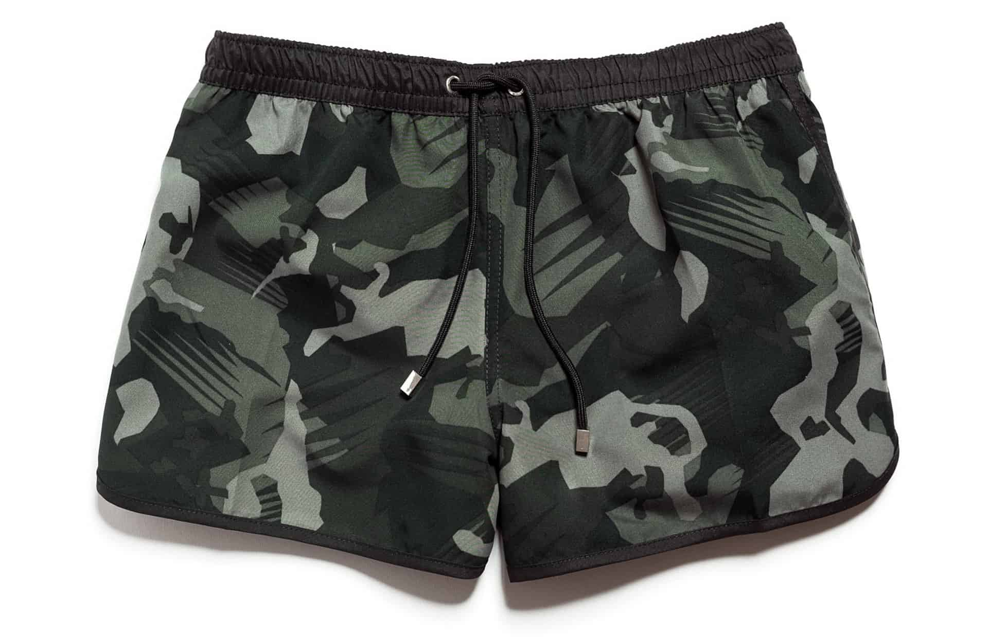 Mens Swimwear Guide Gentlemans Gazette Branded Gap Man Short Pants Original Zara Camouflage Swim Trunks 3590