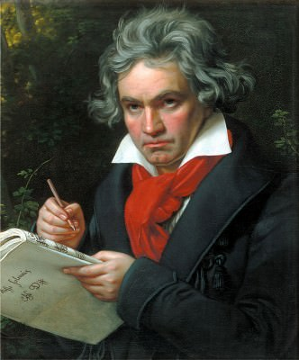 Beethoven with the Missa solemnis oil painting, 1819 by Joseph Karl Stieler