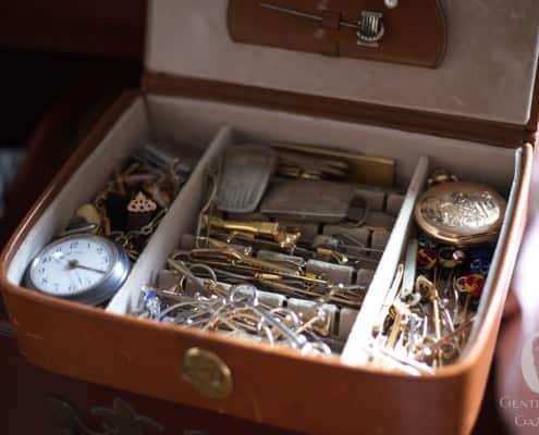 Collar Pins, stick pins & pocket watches