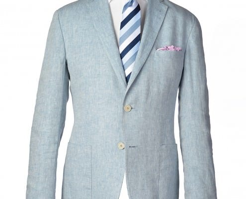 Gagliardi light blue chambray linen jacket