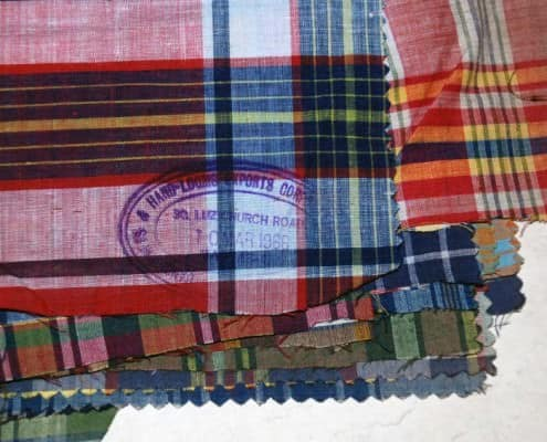 Hand loomed Madras fabric from 1966