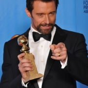 Hugh Jackman in Louis Vitton link-front at the 2013 Golden Globes