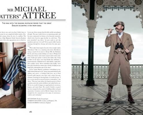 Michael Atters Attree in plus fours with ascot and short waistcoat