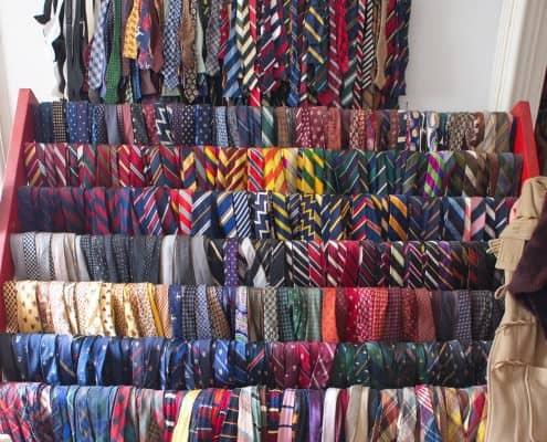 Sean's infamous tie rack with 3,000+ ties