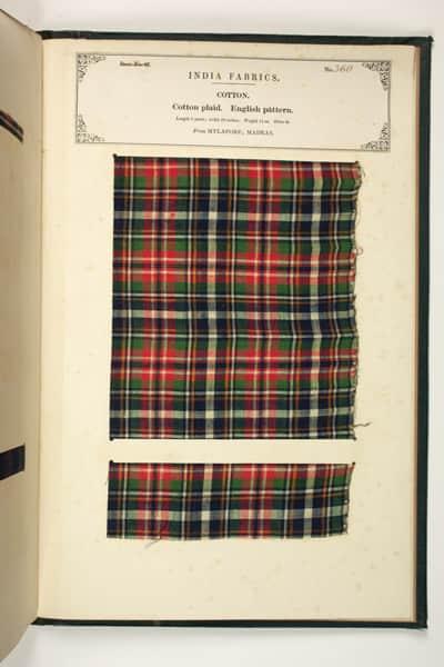Tartan from 1866 - Harris Museum