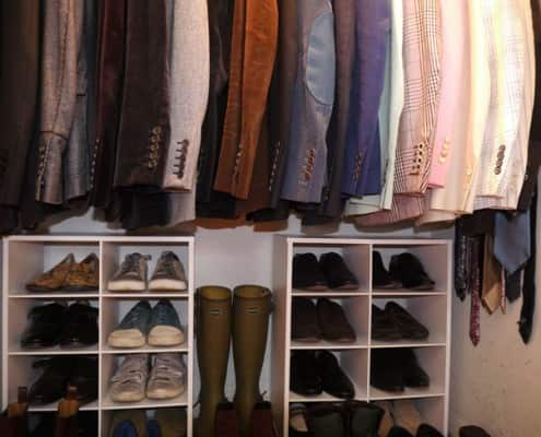 The Closet of James Andrew with many Tom Ford pieces