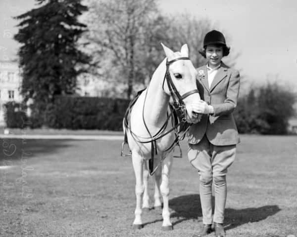 Young Princess Elizabeth in Jodhpurs