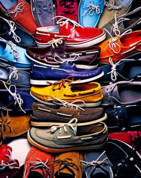 boat shoes in vivid colors