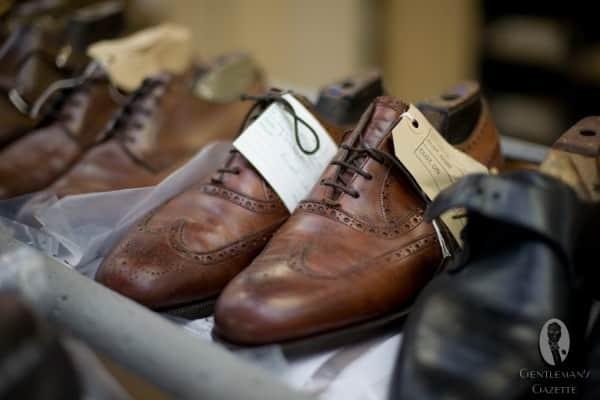 EG shoes awaiting repair