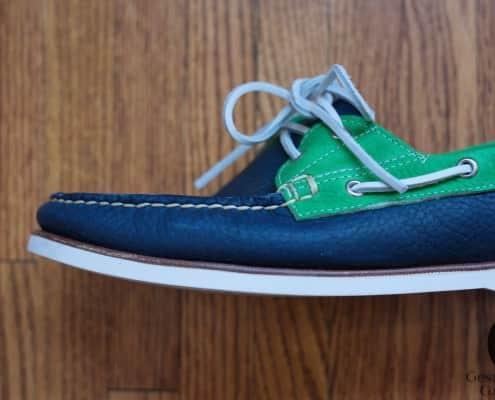 Eastland Men's Freeport Boat Shoe in Navy Green