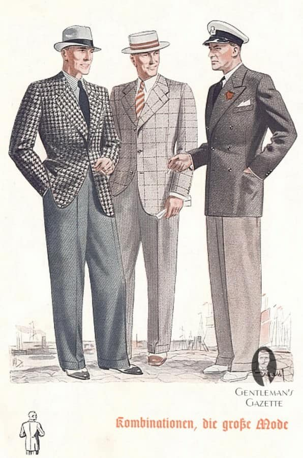 Houndstooth, Windowpane and Double breasted jacket with hats