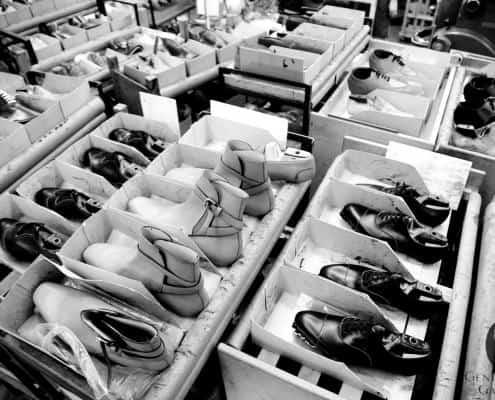 Jodhpur boots & Oxfords awaiting soling at Edward Green