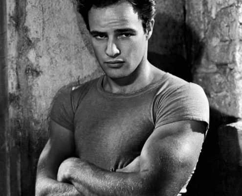 Marlon Brando in A Streetcar Named Desire in a non-white T-Shirt