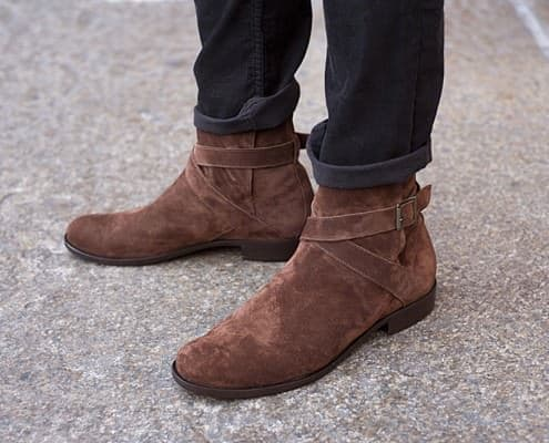 Jodhpur boots in suede