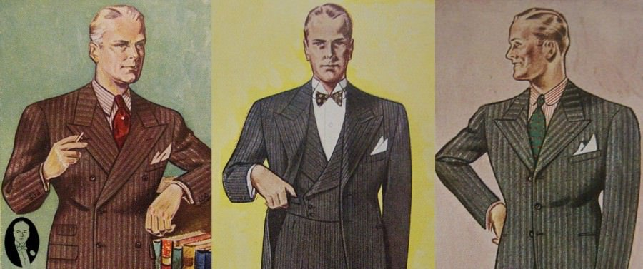 1930 Fashion Styles Men S Suit Silhouettes