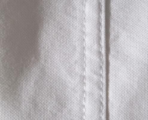 Double needle stitching