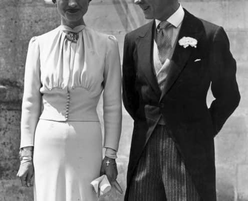 Duke & Duchess of Windsor on their wedding day in morning dress