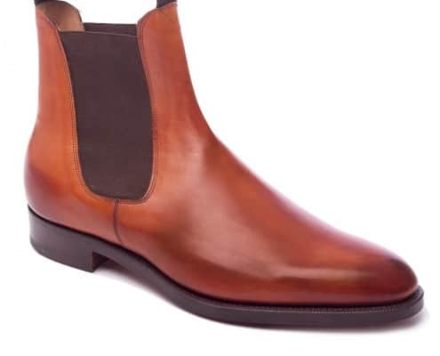 Edward Green Newmarket chelsea Boot in Brown Leather