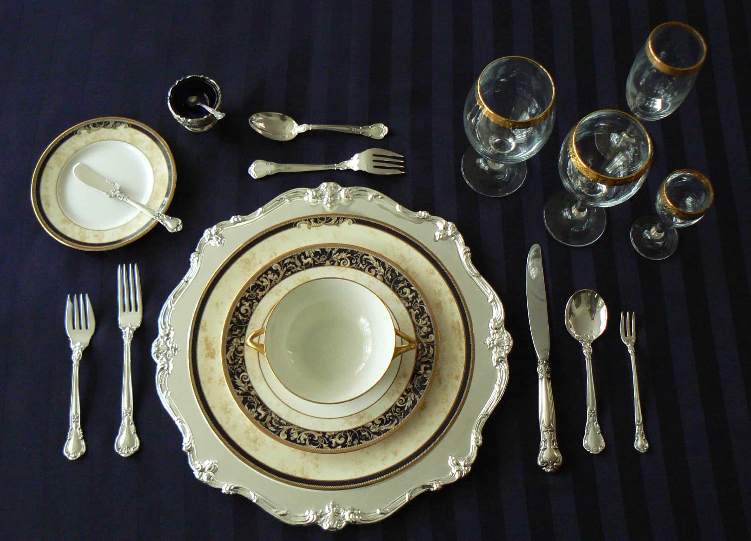 Formal Place Setting With Oyster