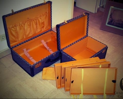 Goyard Shirt Trunk & Suitcase