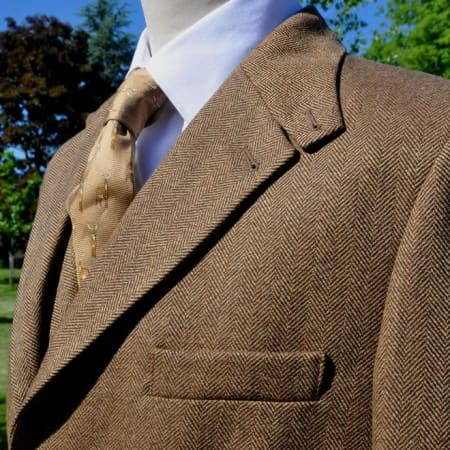 Hardy Alsport Brown Herringbone Tweed Jacket