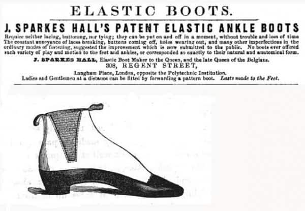 J.-Sparkes-Hall Elastic Ankle Boots from 1851