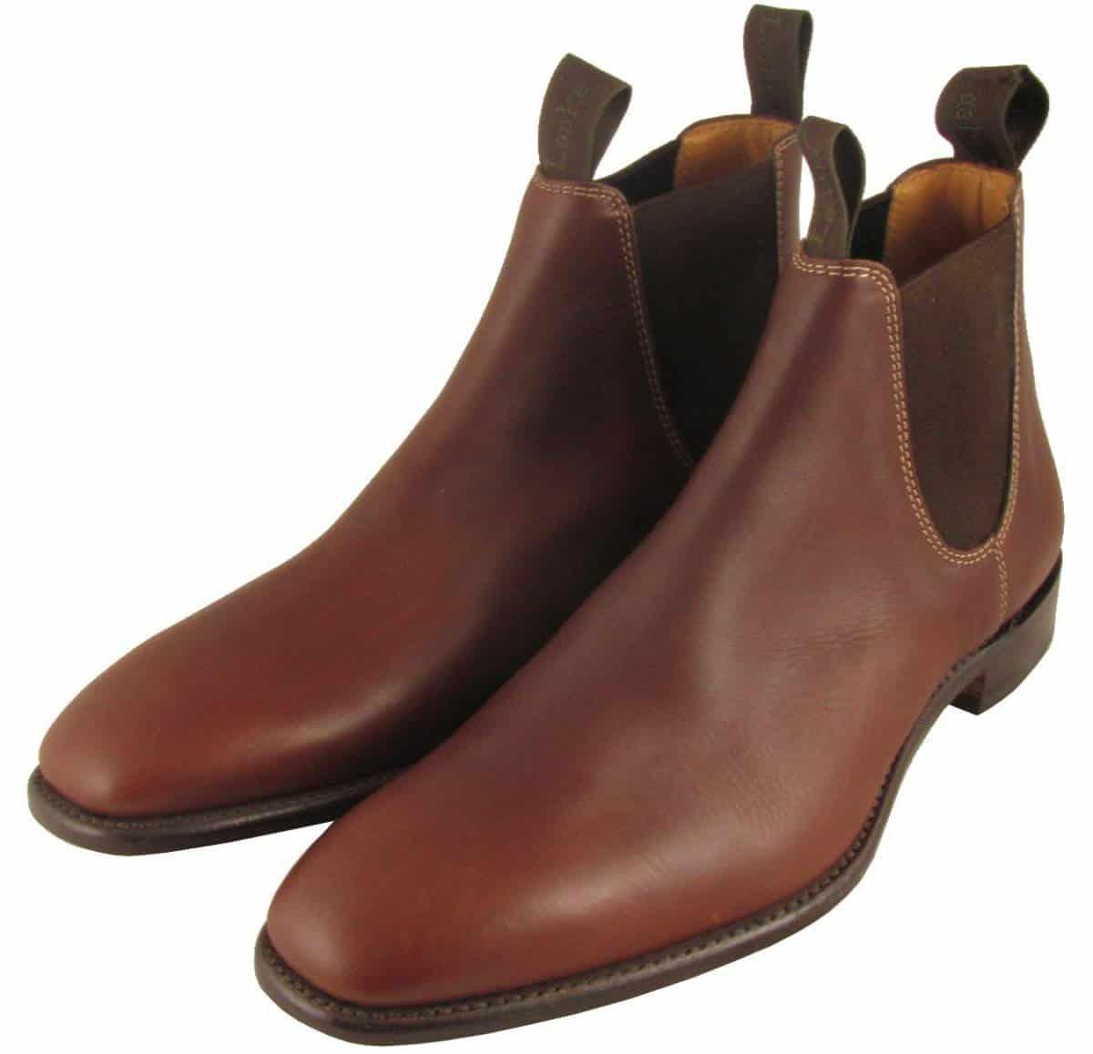 Fashion Men/'s Leather Chelsea Boots Cuban Heels Motor Ankle Boots Blacki British