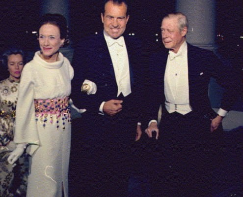 Nixon & the Duchess and Duke of Windsor in White Tie 1970