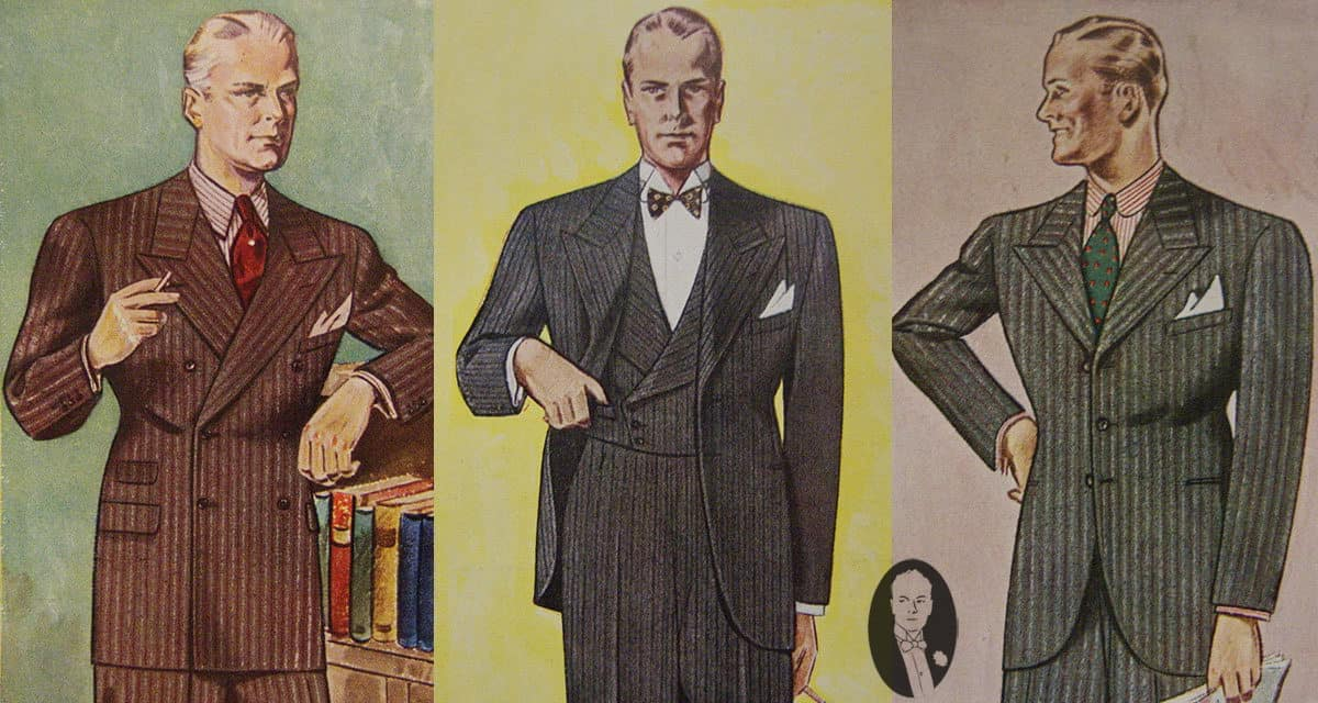 Suit Silhouette In 1934 Gentlemans Gazette
