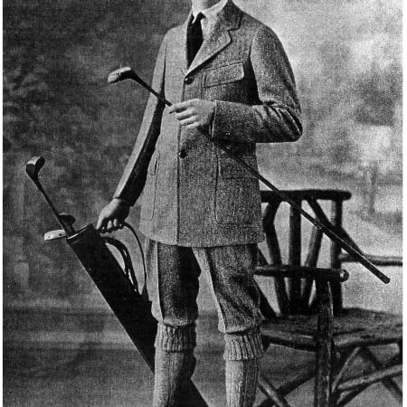 Tweed Golf Suit in 1915