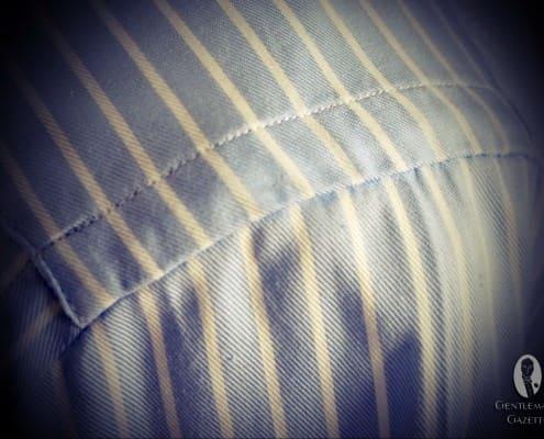 Unmatched pattern on shoulder