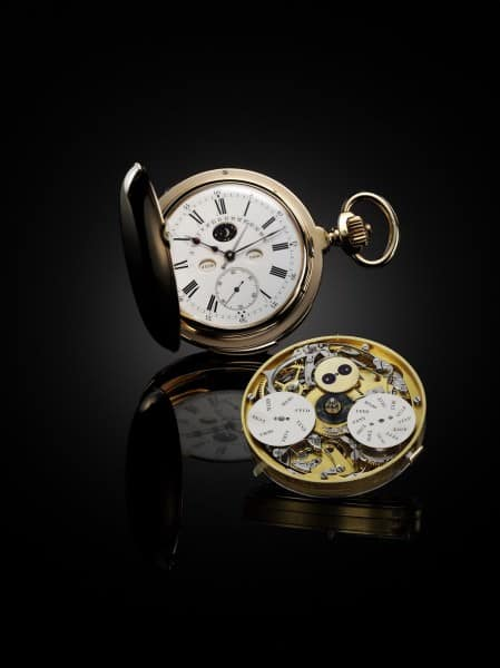 1890 Minute repeater watch with annual calendar