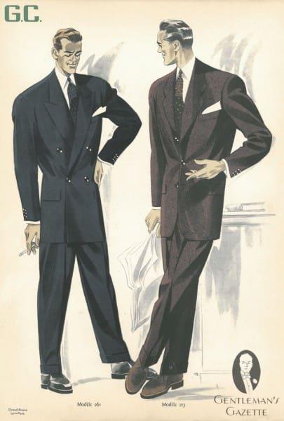50s suit silhouette