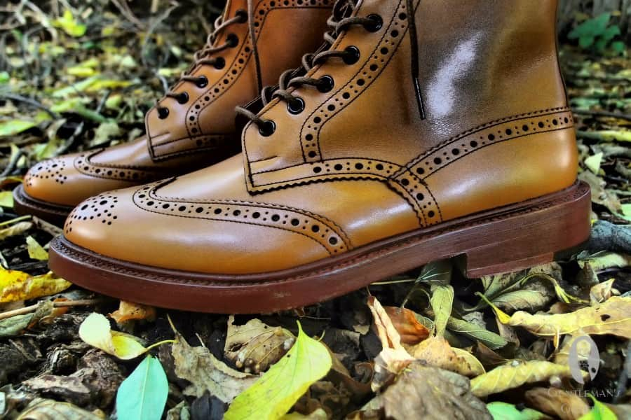 Double leather sole made of oak bark tanned leather