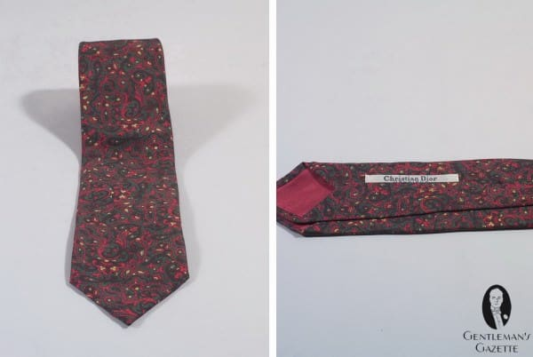 Fall tie in paisley faux madder silk by Christian Dior