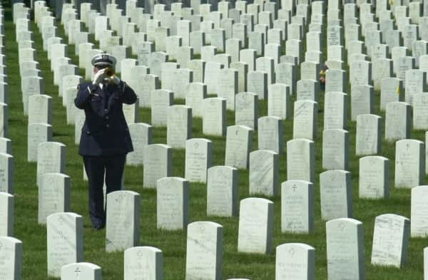 Funeral Service at the Arlington Cemetery