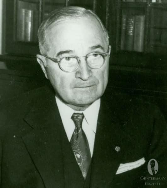 Harry S. Truman wearing the purple custom tie