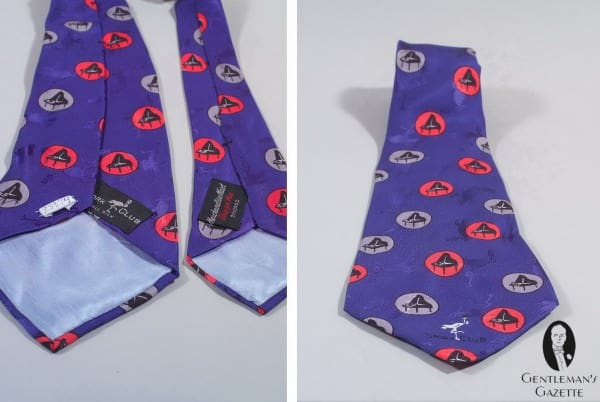 Printed & Jacquard Silk tie made by Merchandise Mart for the society night club Stork Club in New York
