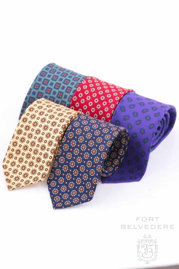 Real Ancient Madder Silk Ties - Fort Belvedere
