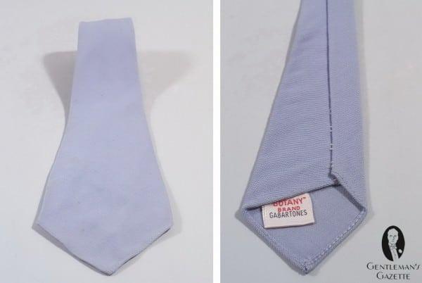 Silver grey cotton tie by Botany Brand Gabartones