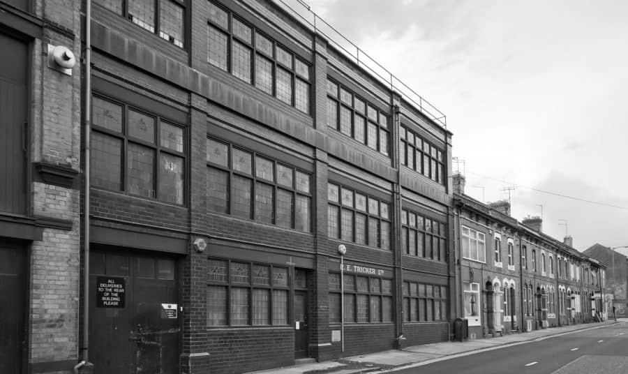 Tricker's factory in Northampton, England