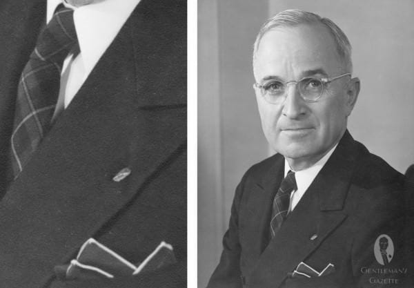 Truman with Tartan tie & handrolled contrast edge pocket square