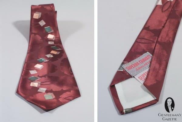 Typical 1930's silk tie by Superba Cravats 1873