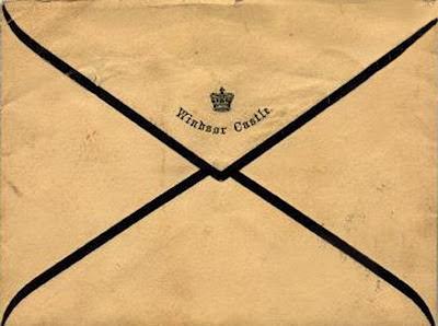 Windsor Castle Mourning Stationary with black border