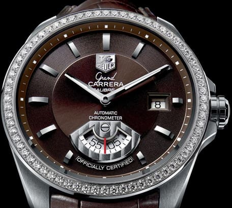 Tag Heuer Calibre 6 rs diamond bezel watch
