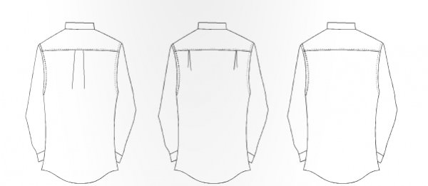 BACK - pleat options