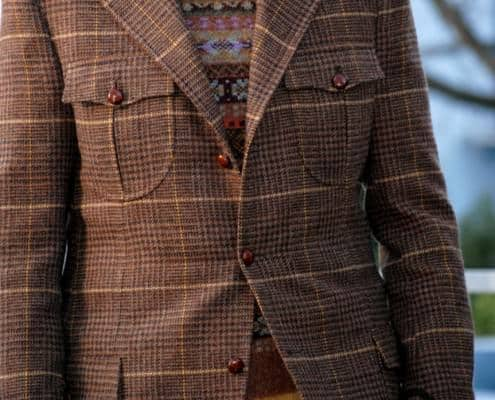 Breansih tweed jacket with custom details