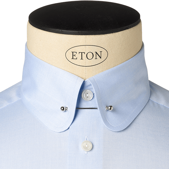 COLLAR ONLY BRAND NEW Starched Stiff Detachable Shirt Collar DOUBLE ROUNDED.