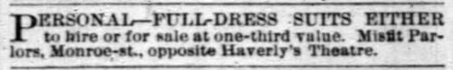 Chicago Daily Tribune, February 1884.
