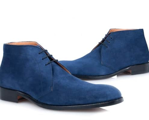Chukka Boots in Blue Suede by Shoepassion